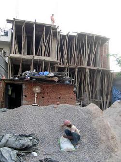 インド:建設現場